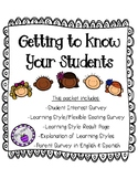 Student and Parent Surveys-Getting to Know Your Students