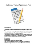 Student and Teacher Appointment  Form