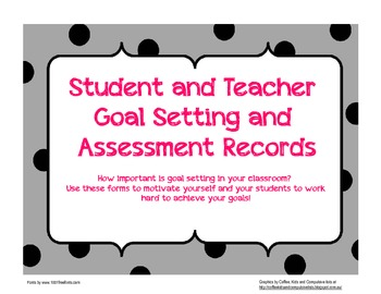 Student and Teacher Assessment Record Sheets