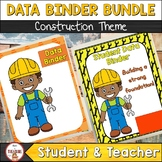 Student and Teacher Data Binder Bundle (Editable) Construction Theme