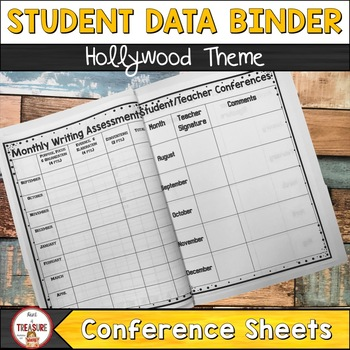 Student and Teacher Data Binder Bundle (Editable) Hollywood Theme