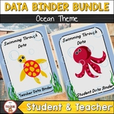 Student and Teacher Data Binder Bundle (Editable) Ocean Theme Class Decor