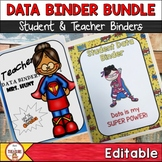 Student and Teacher Data Binder Bundle (Editable) Superhero Theme