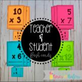 Student and Teacher Multiplication Flash Cards FREEBIE