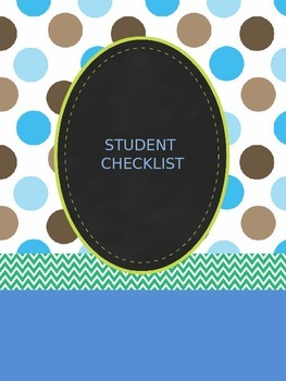Student and assignments checklist - editable version