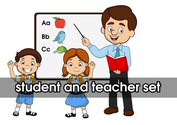 Student And Teacher Clipart Set