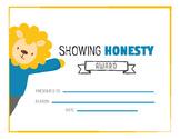 Student award - honesty award, printable, character trait