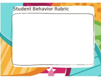 Student behavior rubric