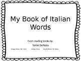 Italian Words  Tomie DePaola student book