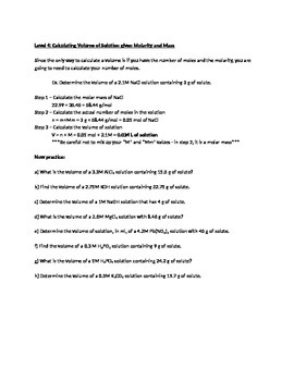 Student-centered Molarity Worksheet by Dean Graddon | TpT