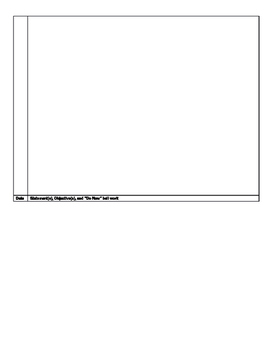 Student daily objective learning target bell work reflection metacognition