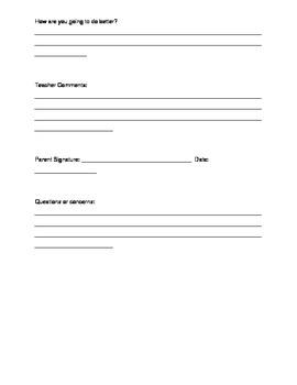 Student data Progress Report