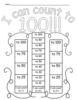 Student  data sheet for counting