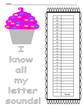 Student  data sheet for letter sounds