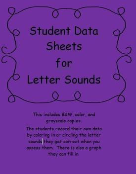 Student  data sheet for letter sounds