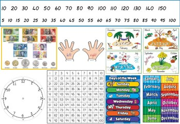 Student desk mat (literacy and numeracy)
