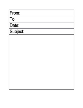 Student email printable