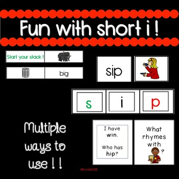 CVC short i - engaging activities for small group and whole group!