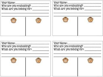 Student evaluation sheet