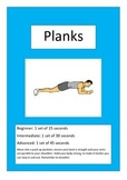 Student fitness cards (physical activity)
