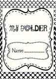 Student folder cover Black and white