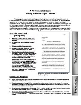 Student-friendly MLA/ writing guide with rubric