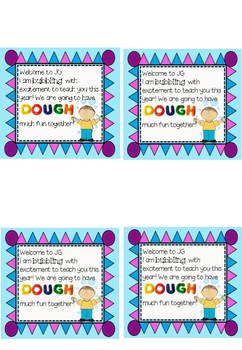 Student gift bag labels for start of year
