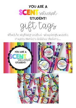You are a SCENTsational student - gift tag