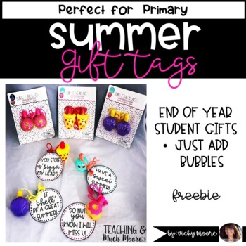Student gift tag FREEBIE