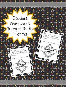 Student homework accountability tracker