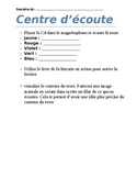 Student instructions for Guided reading center/  Lecture g