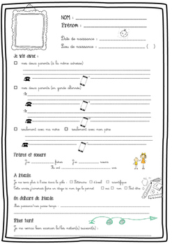 Student introduction sheet for tutor teacher (in French)