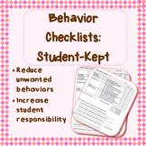Student-kept Behavior Checklists