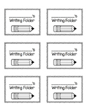 Student labels for journals and folders