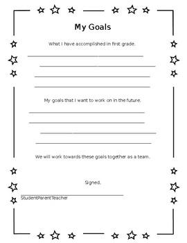Student-led Conference Goals Sheet