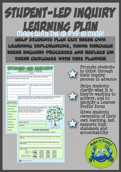 Student-led Inquiry Planner - IB PYP Version