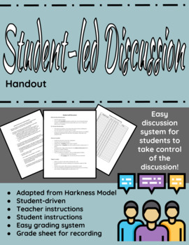 Student-led discussion handout (for any novel or article)
