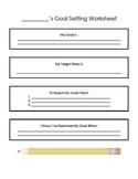 Student led goal setting worksheet