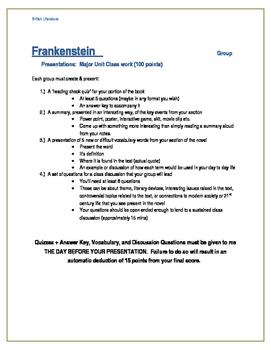 Student led lessons_ Frankenstein