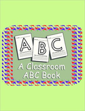 Student-made ABC Classroom Book