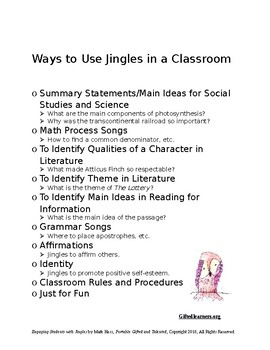 Student-made JINGLES - They're Powerful Stuff!