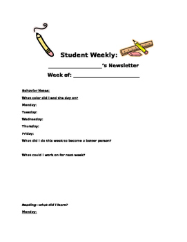 Student made newsletter