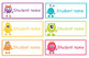 Student name  and classroom labels- Monster Theme