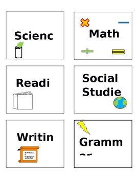 Student notebook label