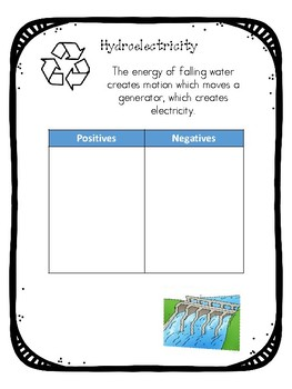 Student notes for renewable and non renewable resources