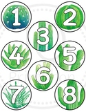Student number circles - Cactus theme numbers - Succulent