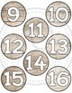 Student number circles - Wood theme numbers - Shiplap - Class Decor