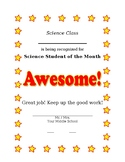 Student of Month Certificate