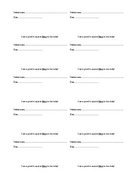 Student of the Day Cards