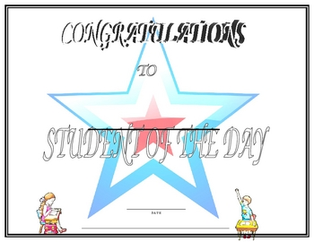 Student of the Day Certificate